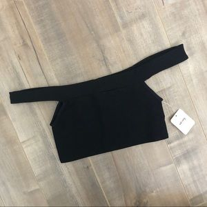 NWT Free People ribbed off shoulder top